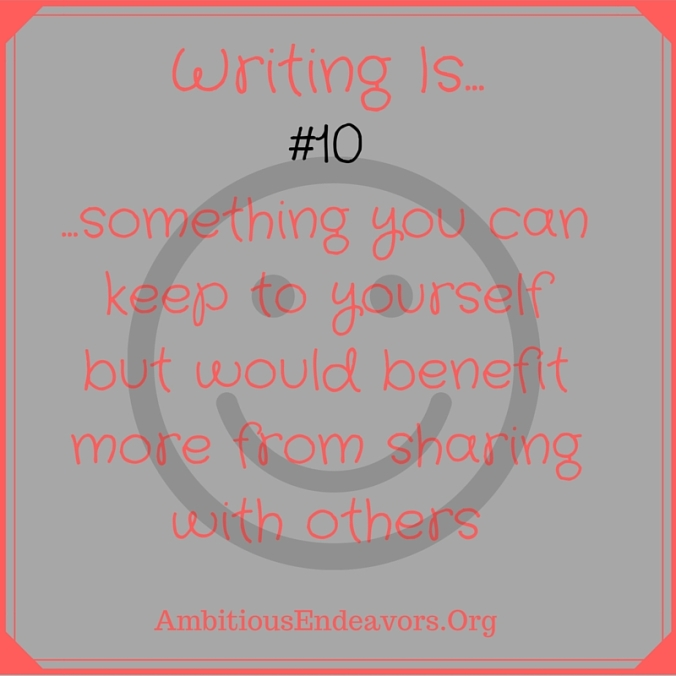 #10 Writing Is...